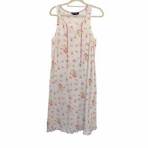 Ralph Lauren Floral 90's 100% Cotton Dress Ruffles